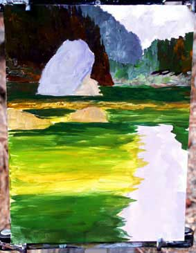 profundidade, acrílico, mais fino do que o petróleo, tutorial arte
