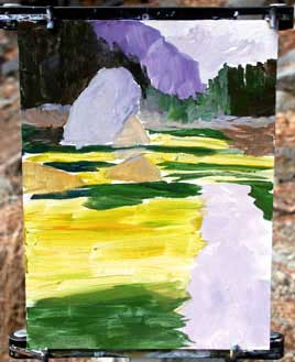bloquear dentro, pintura acrílica, tutorial arte