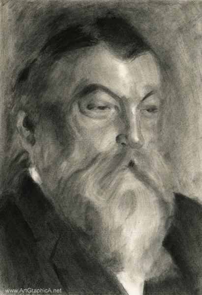 anders zorn charcoal, portrait drawing
