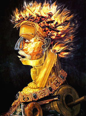Fire, fine art canvas reproduction print