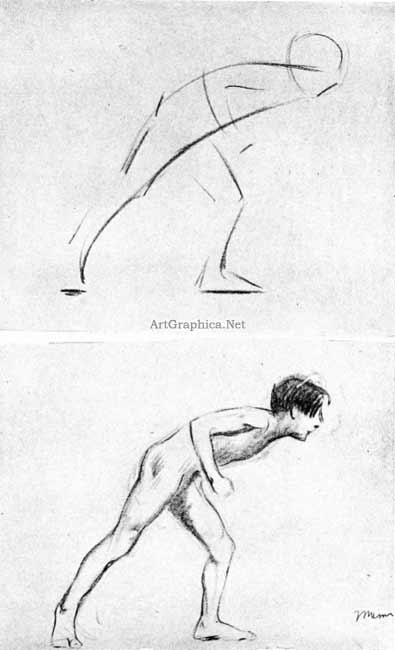 male nude poses, art student book