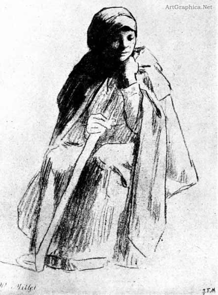 j f millet drawing, drawing for art students and illustrators