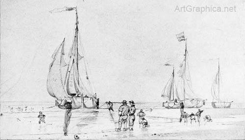 sailing boats, perspective drawing
