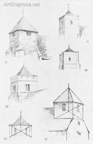 church steeple drawings