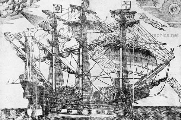 Augustine Ryther, ship of the sixteenth century