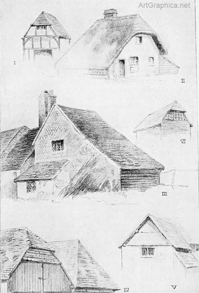 houses in perspective, perspective for artists