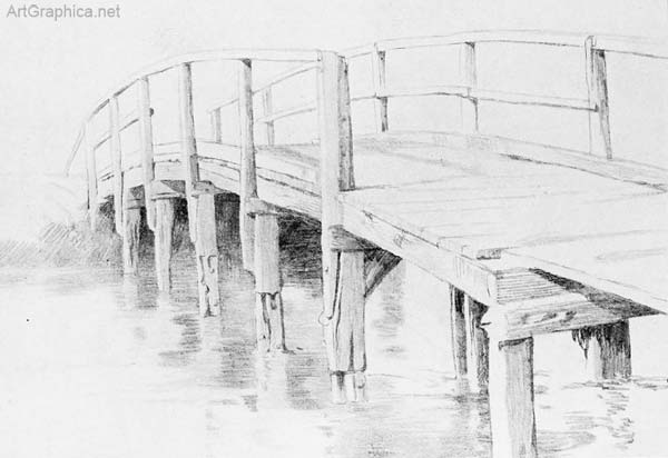 bridge drawn in perspective, free perspective book