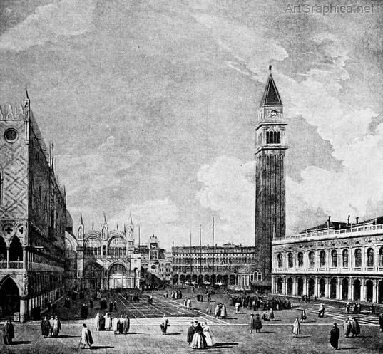 canaletto perspective, st mark's square venice