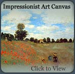 impressionist art prints, art canvas