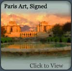 paris art, paris scenes, limited edition canvas