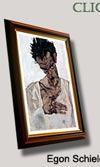 egon schiele art canvas print