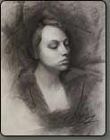 charcoal drawing, portrait in charcoal, free art lesson