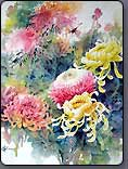 how to paint flowers, Chrysanthemum, chinese painting lesson