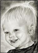 drawing young children, child portrait