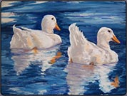 painting ducks