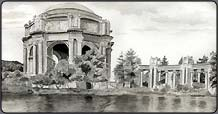 pen and ink lesson, palace of fine arts