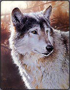 wolf art demo, acrylic art lesson