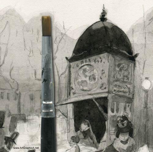 Carlo Brancaccio sketch, drawing, watercolor