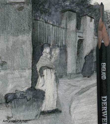 childe hassam, paris sketch