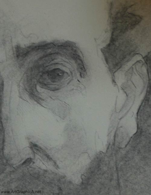 zorn portrait in charcoal