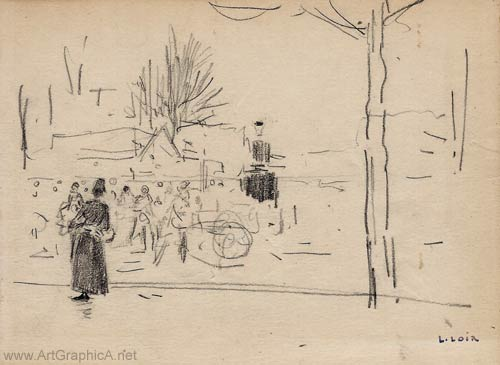sketch by luigi loir