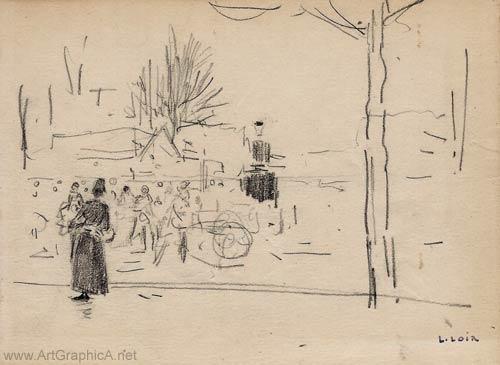 sketch by luigi loir
