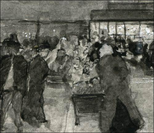 impressionist paris sketch