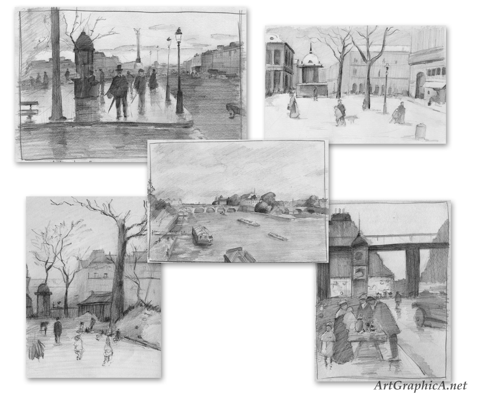 sketches of paris