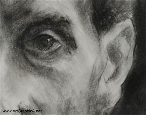 zorn portrait in charcoal