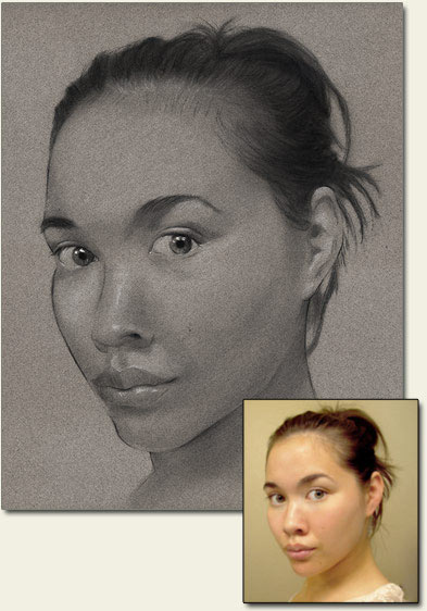 commission a portrait from your photo, artist