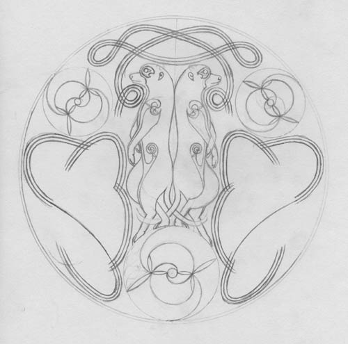how to draw norse knotwork