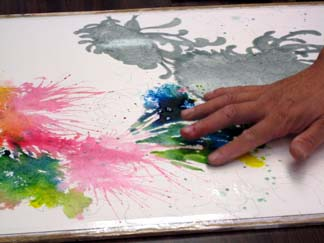 using your hands with watercolor