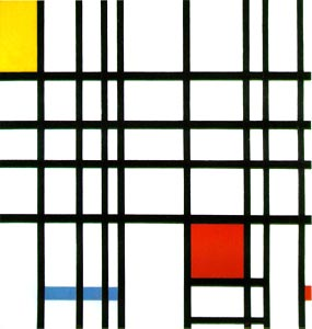 piet mondrian, red yellow and blue