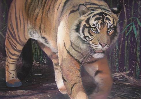 pintura tigre estilizado