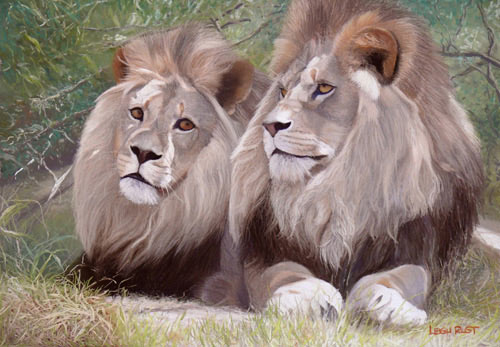 lion painting, wildlife painting tips