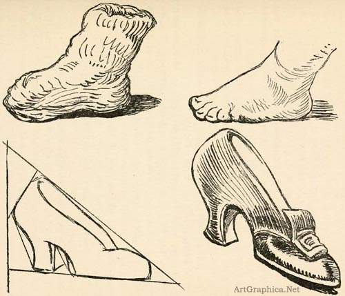 drawing feet, art lessons for beginners