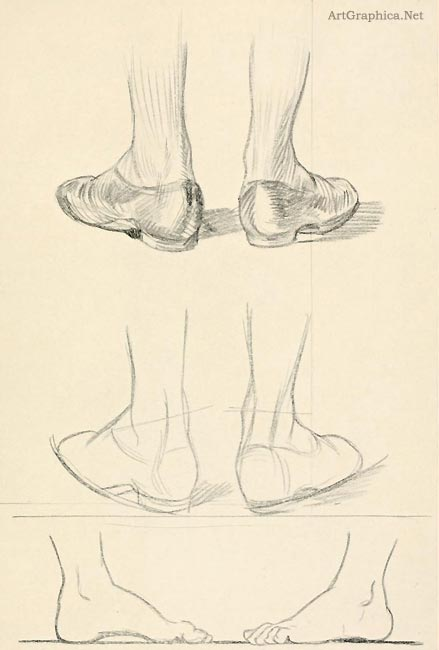 guide to drawing feet, beginner art tutorial