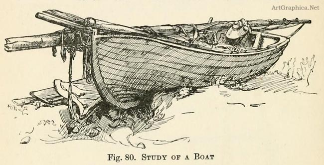 study of a boat