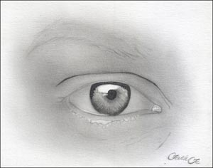 drawing human eyes