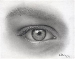 pencil eye free art lesson