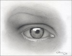 art tutorial, drawing eyes
