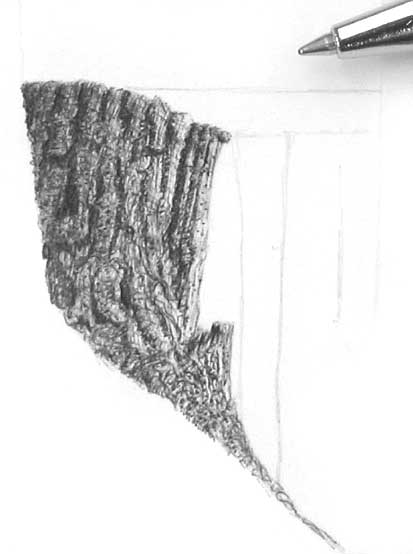 tree drawing with roots. tree stump, how to draw trees,