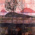 Sunset by Egon Schiele