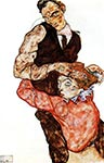 lovers by Egon Schiele