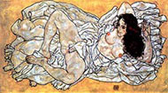 Lying Woman by Egon Schiele