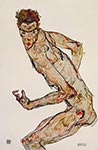 The Fighter by Egon Schiele