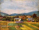 Farm Scene, Lower Austria by Egon Schiele