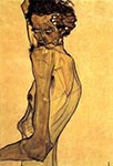 Self-portrait with Arm Twisted Above Head, 1910 by Egon Schiele