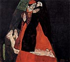 Cardinal and Nun (the Fondling) by Egon Schiele