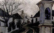 Monastery, Bald Trees and Houses, 1907 by Egon Schiele